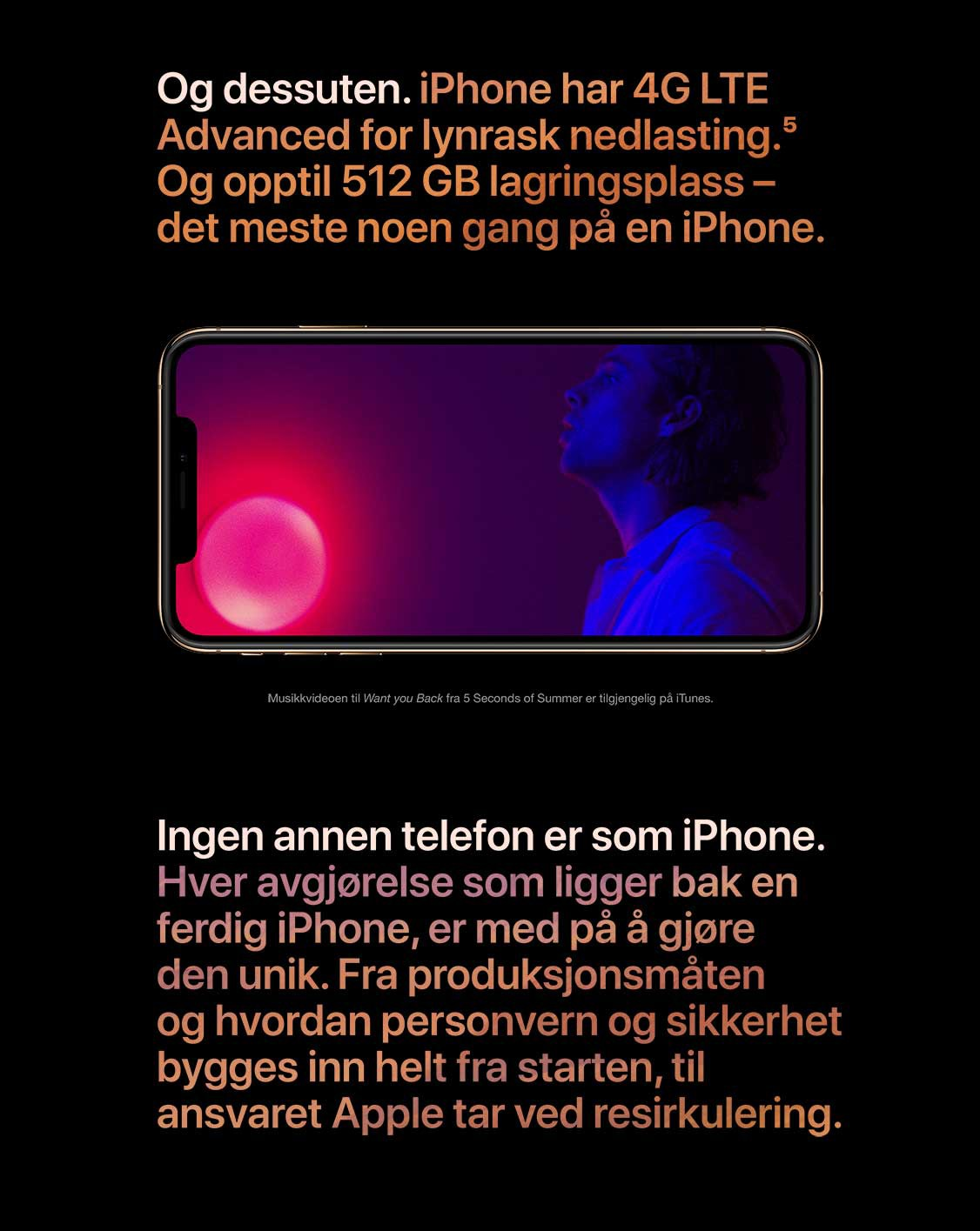 iPhone har 4G LTE Advanced for lynrask nedlastning