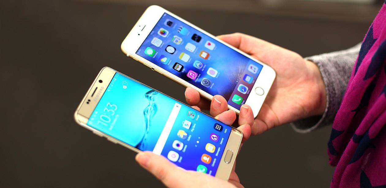 iPhone och Samsung