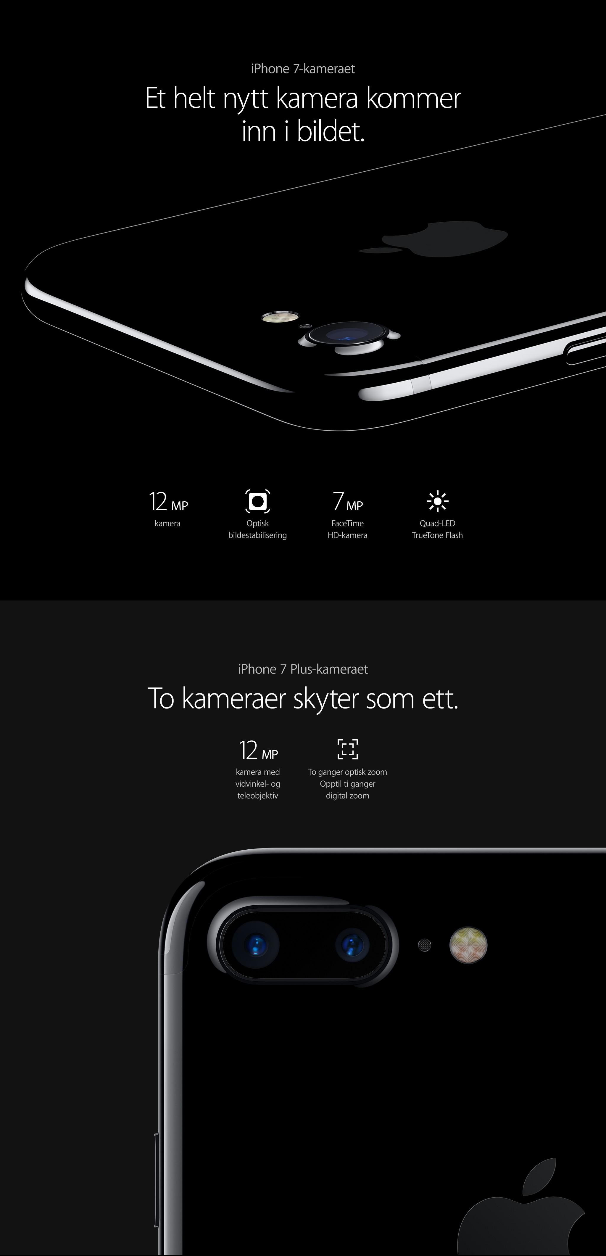 iPhone 7 og iPhone 7 Plus - to kameraer som fanger alt