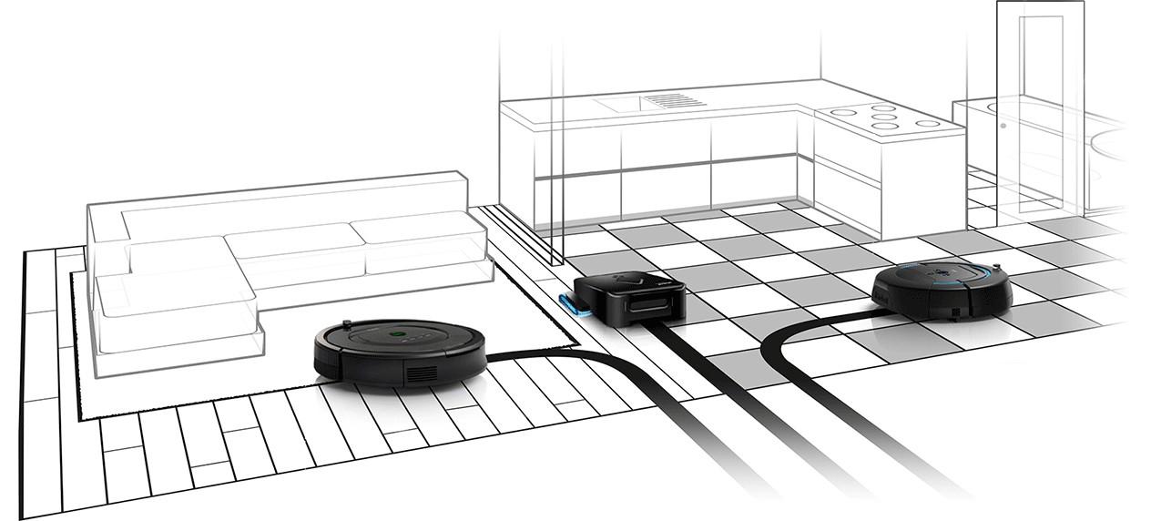 Rengøringen bliver nemdt med iRobot Roomba, Braava eller Scooba robotterne