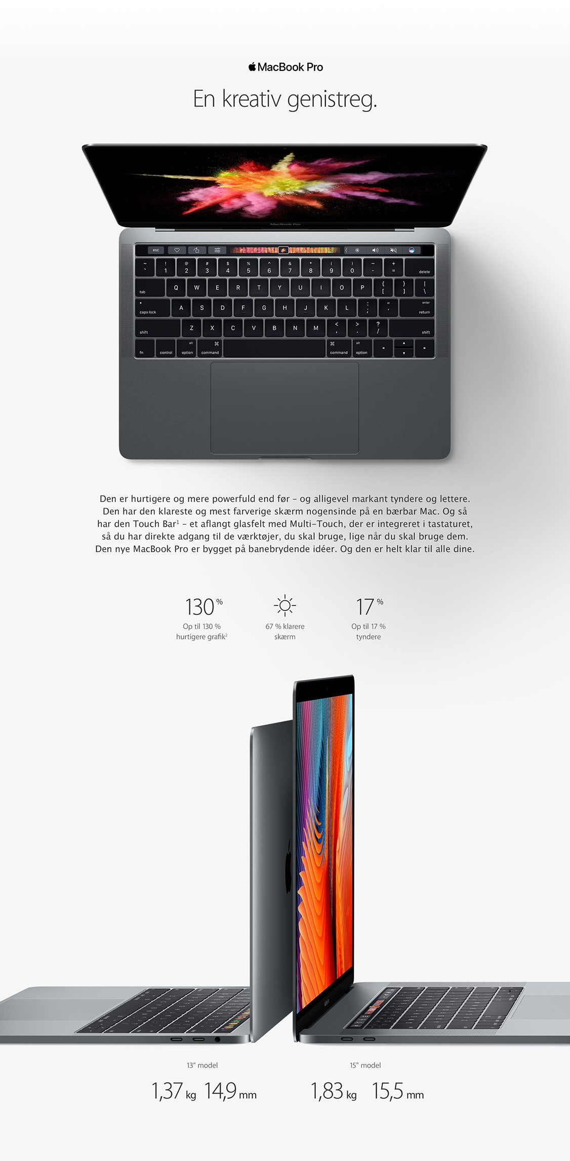 Oplev en kreativ genistreg med MacBook Pro