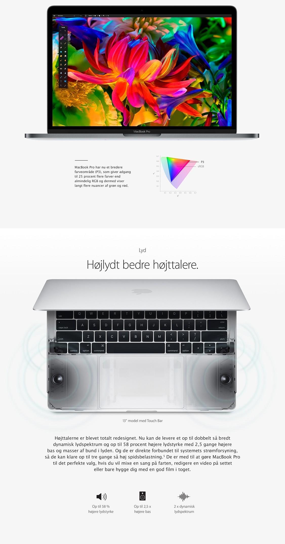 MacBook Pro's højttalere leverer