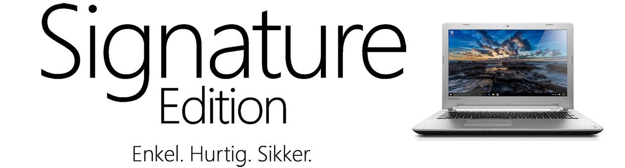 Signature Edition fra Microsoft