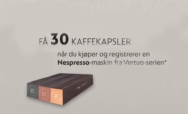 SDA Nespresso vertuo 30 kapsler