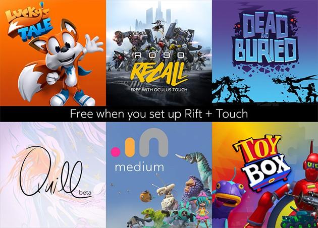 Sæt Oculus Rift og Touch op og få 6 gratis titler