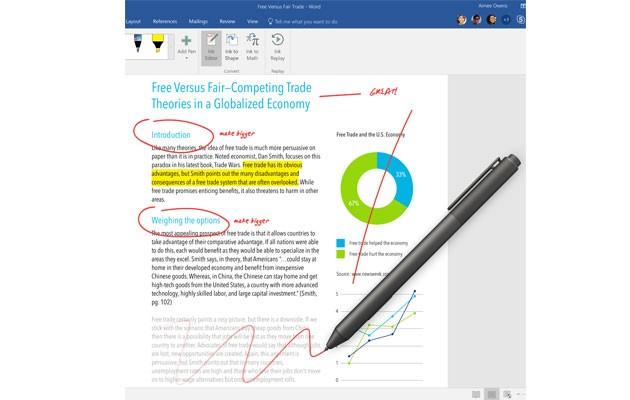 Bild av en datorskärm med Word som är en del av Office 365