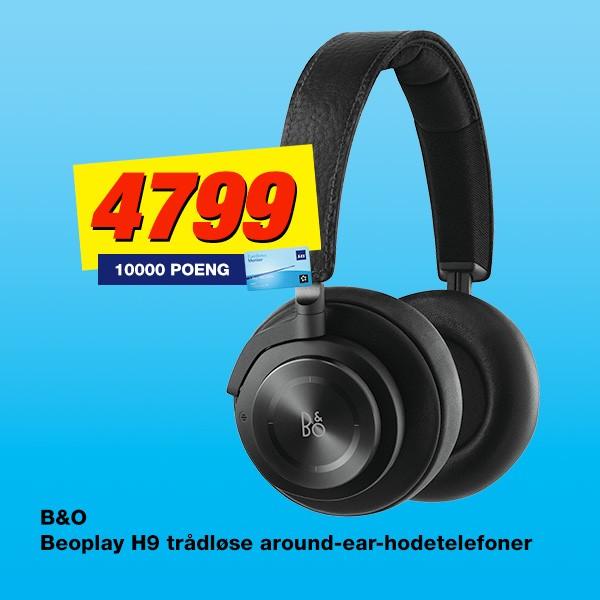 Kjøp B&O Beoplay H9 trådløse hodetelefoner og få SAS Eurobonus Ekstrapoeng med i prisen