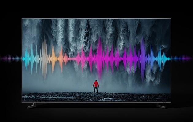 Samsung QLED 8K Q900R analyserar automatiskt alla scener och ger dig det bästa ljudet som passar