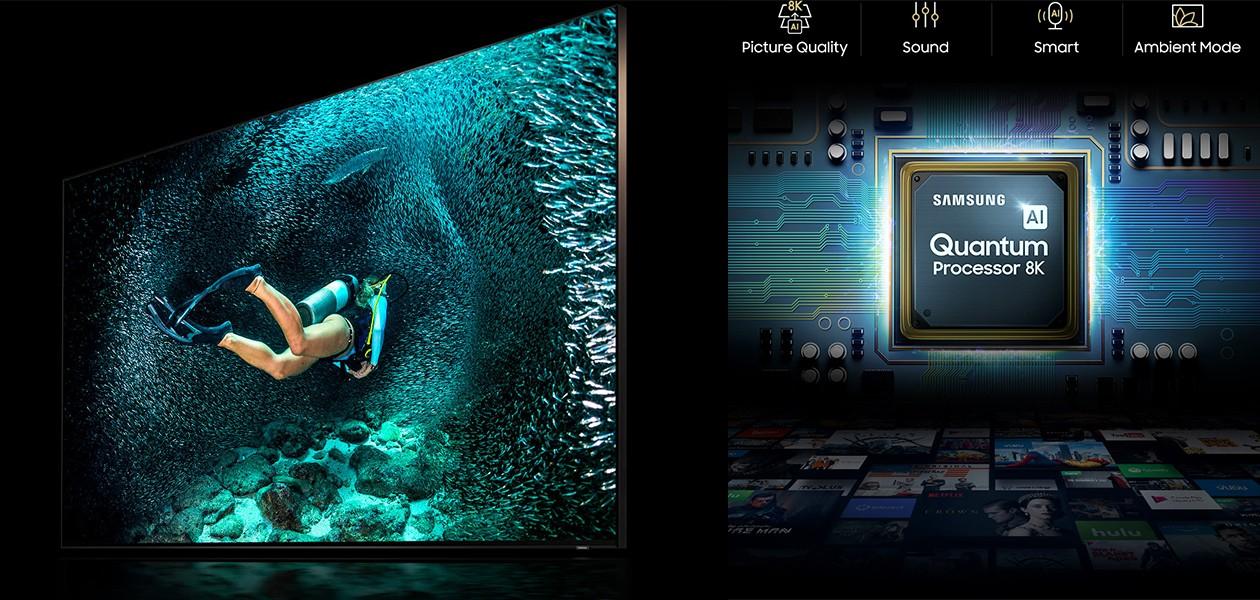 Samsung QLED 8K Q900R uppskalerar lågupplöst inneåll till nästintill 8K-bildkvalitet