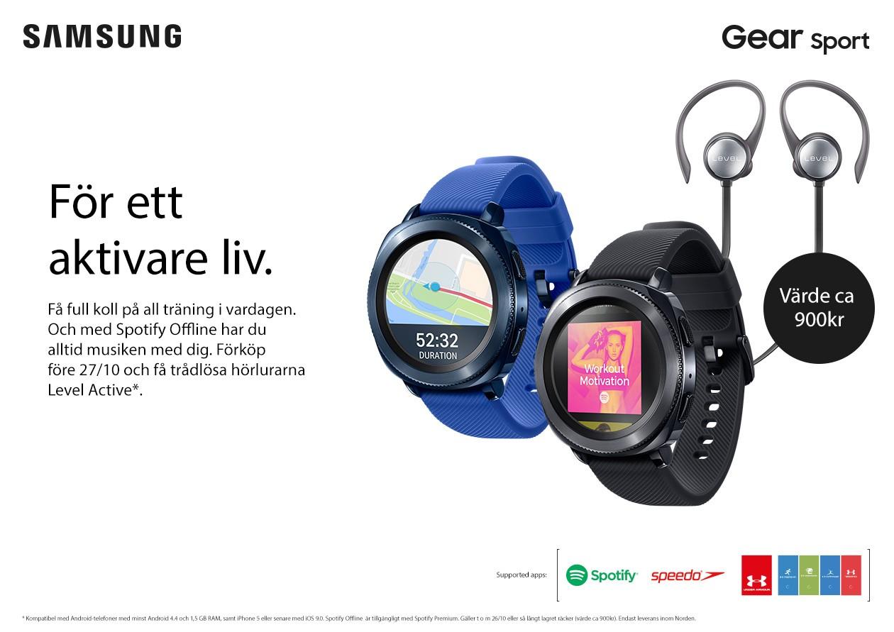 Förhandsbeställ nu och få trådlösa Level Active-hörlurar med på köpet