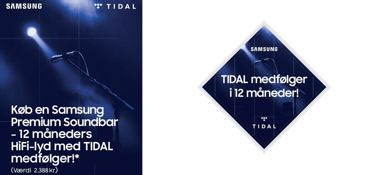 Køb Samsung soundbar, få Tidal
