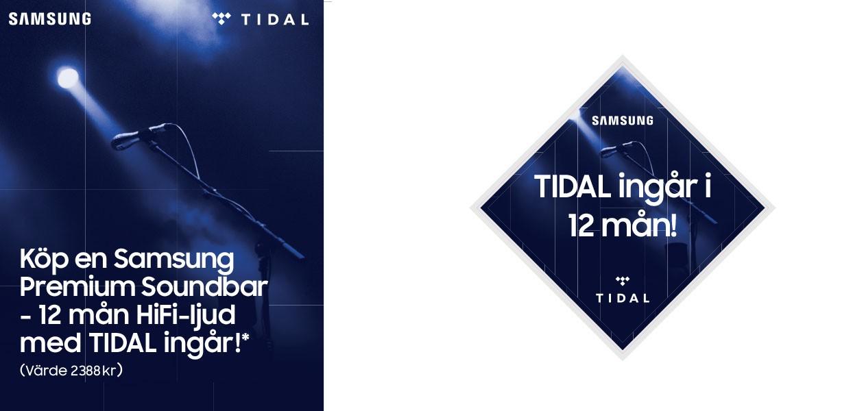 Köp Samsung Soundbar, få Tidal