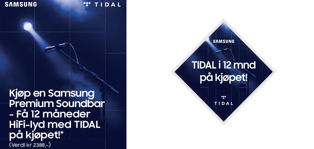 Kjøp Samsung soundbar, få Tidal