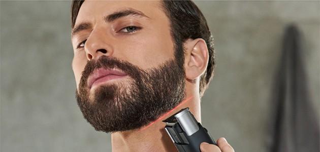 raka skägg med hårtrimmer