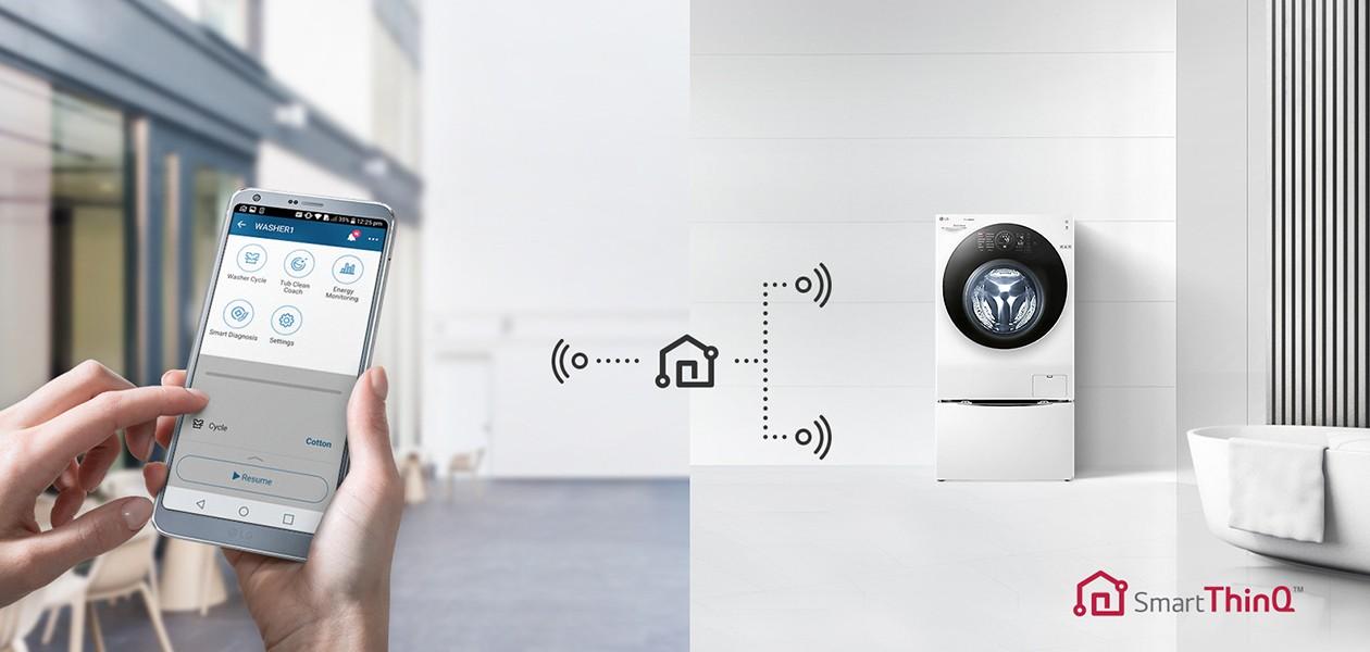 Styr vaskemaskinen med WiFi