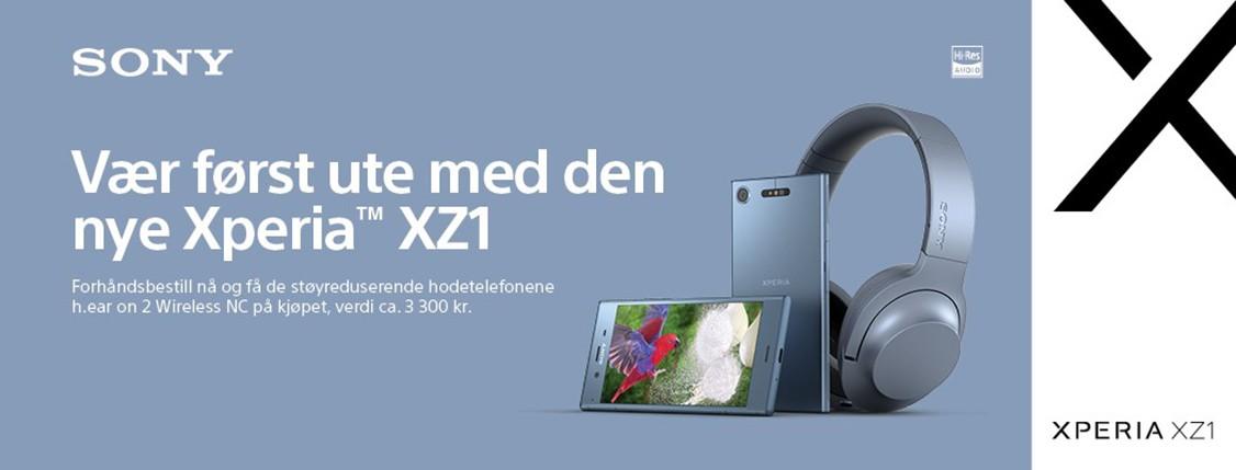 Forhåndsbestill Sony Xperia XZ1 nå og få et par hodetelefoner inkludert i prisen!
