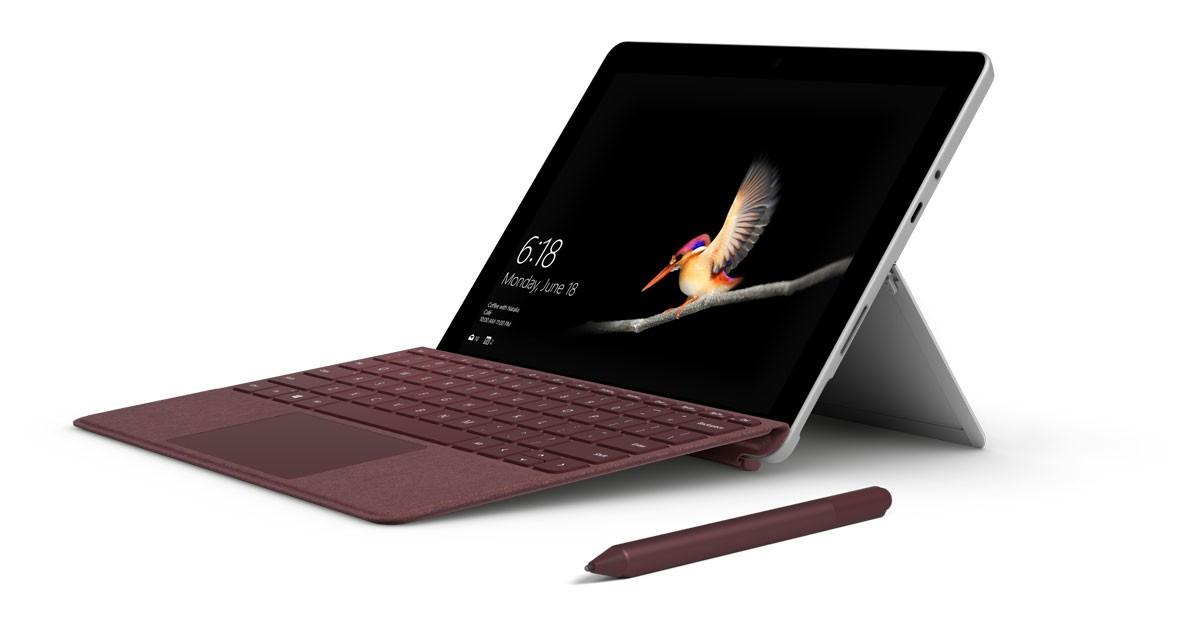 Närbild av 2-i-1 enheten Surface Go