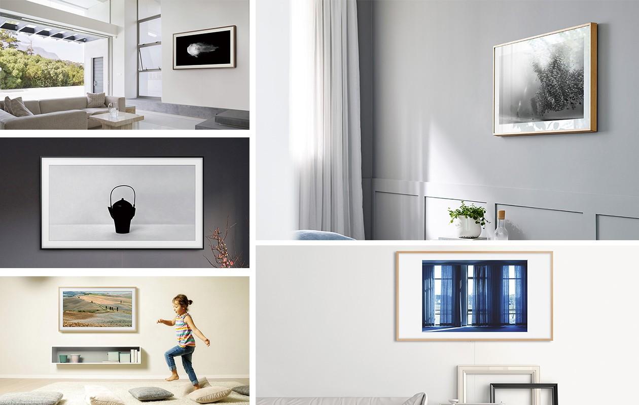 Bilder av The Frame i olika stilar