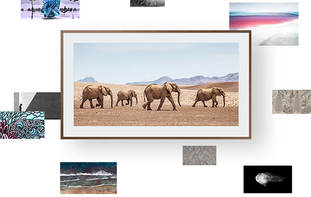 Bilder av konst från Samsung Collection