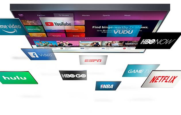Bild av streamingtjänster som Netflix, HBO och Youtube