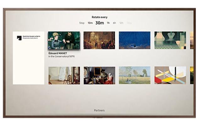 Bild av ett urval av kända målerier på The Frame