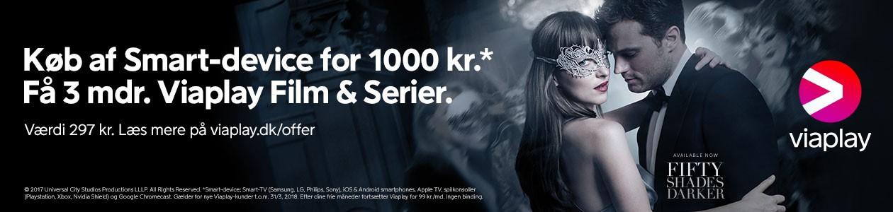 Køb en smartenhed til 1000 kr - få 3 mnd. med Viaplay Film & Serier