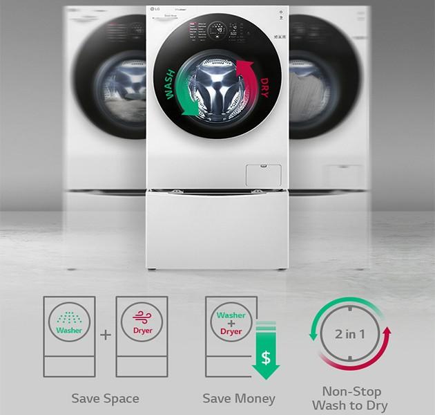 Vaskemaskin og tørketrommel i én